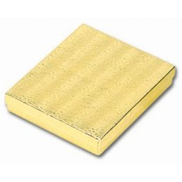 "GOLD COTTON FILLED BOXES 5""X4""X0.87"" #53 10 pieces"