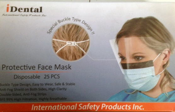 Face Mask with clear shield Pack of 25