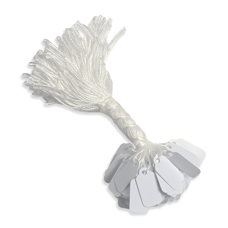 STRING TAGS WHITE Paper 8MMX20MM packs OF 1000